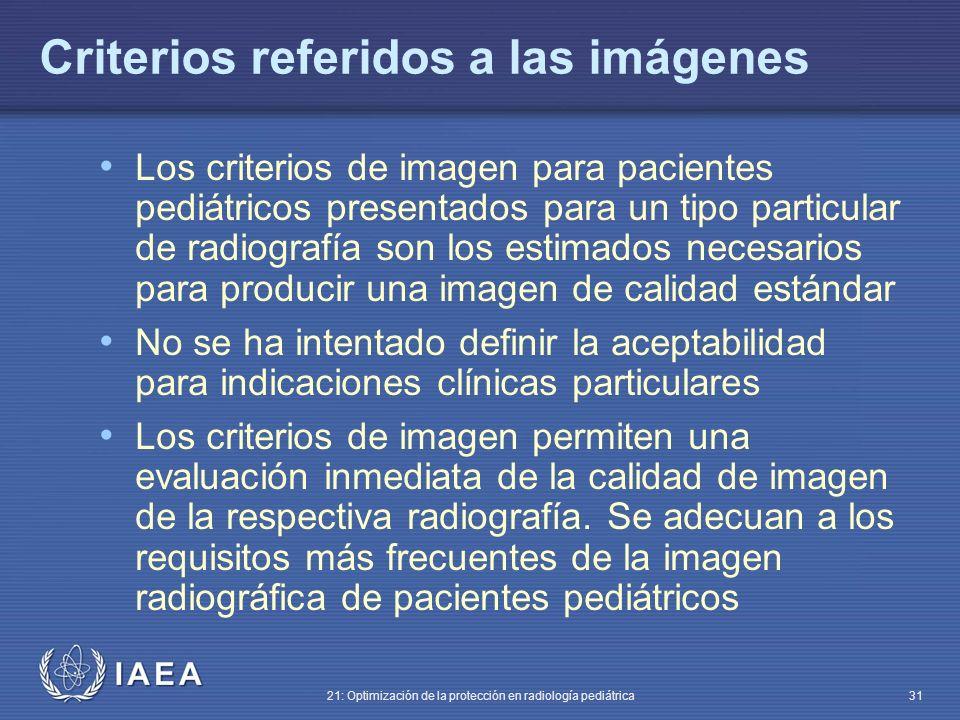 Criterios referidos a las imágenes