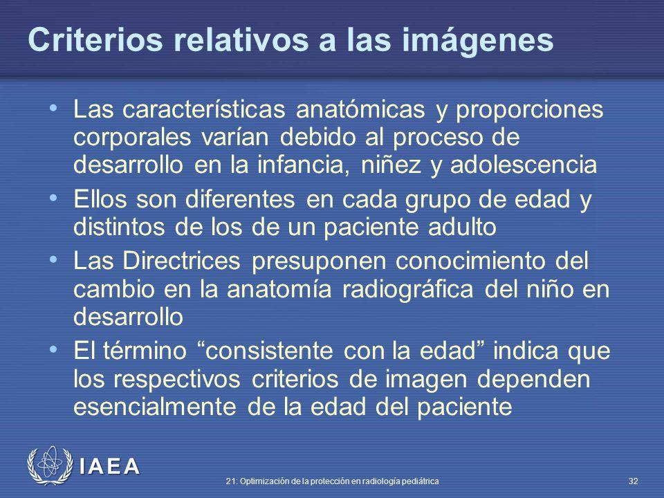 Criterios relativos a las imágenes
