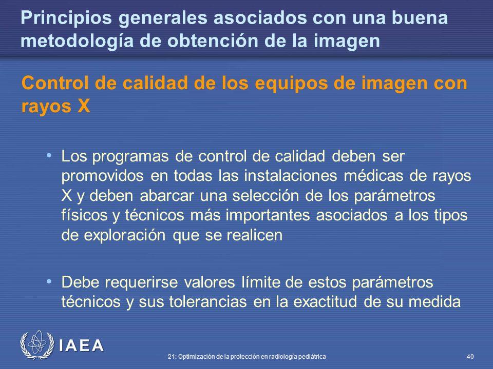 Control de calidad de los equipos de imagen con rayos X