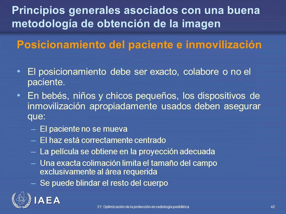 Posicionamiento del paciente e inmovilización
