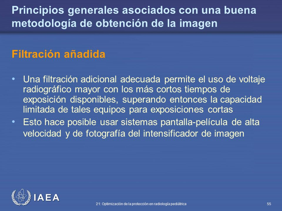 Principios generales asociados con una buena metodología de obtención de la imagen
