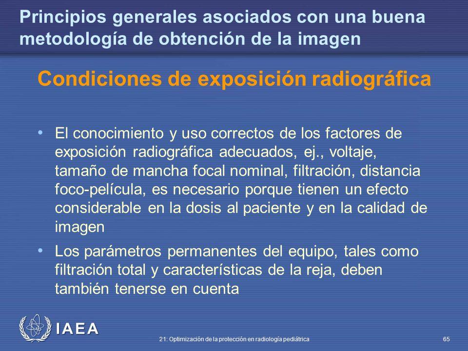 Condiciones de exposición radiográfica