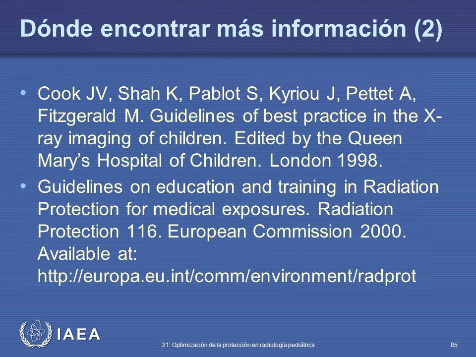 Dónde encontrar más información (2)