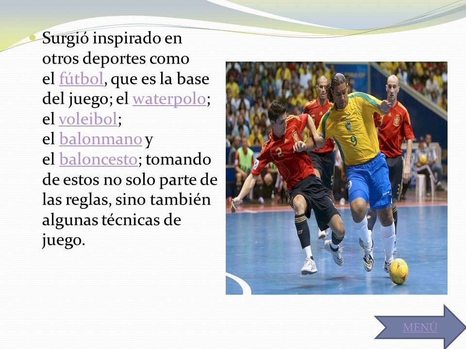 Surgió inspirado en otros deportes como el fútbol, que es la base del juego; el waterpolo; el voleibol; el balonmano y el baloncesto; tomando de estos no solo parte de las reglas, sino también algunas técnicas de juego.