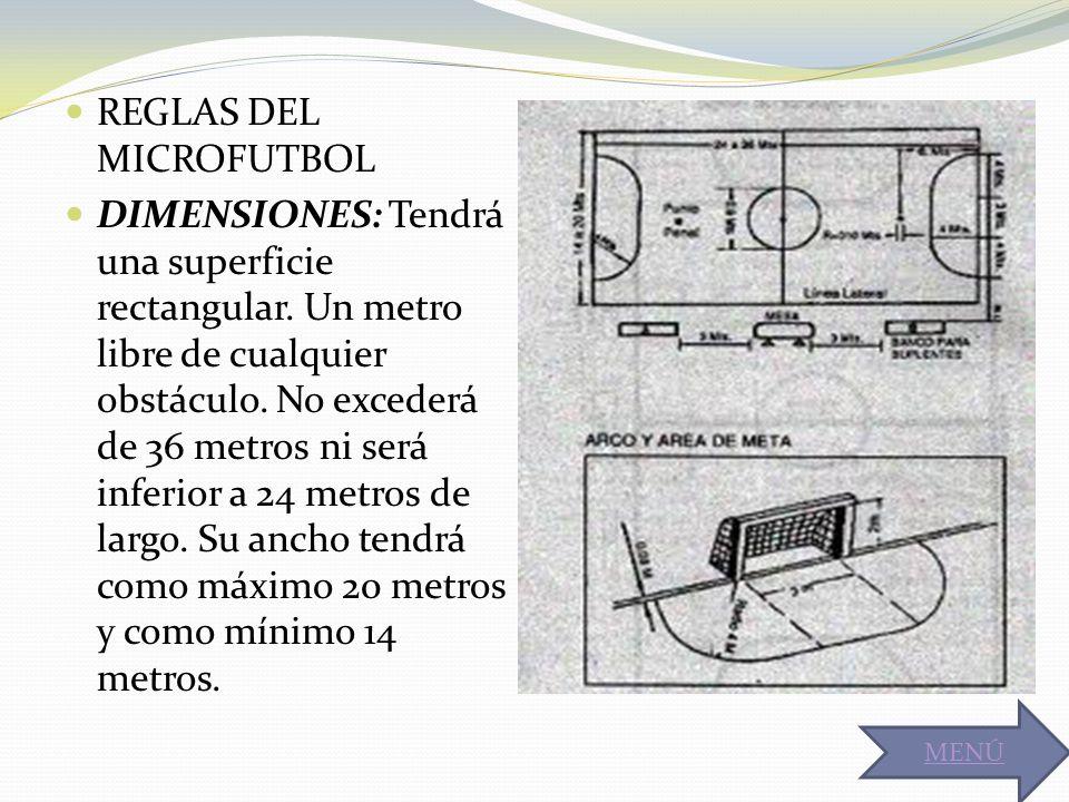 REGLAS DEL MICROFUTBOL