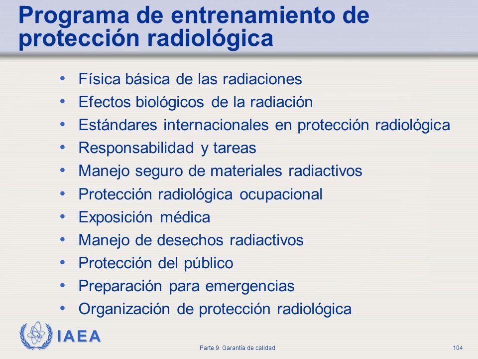 Programa de entrenamiento de protección radiológica