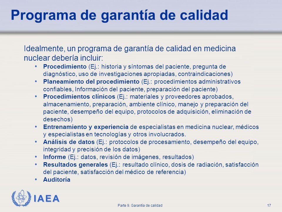 Programa de garantía de calidad