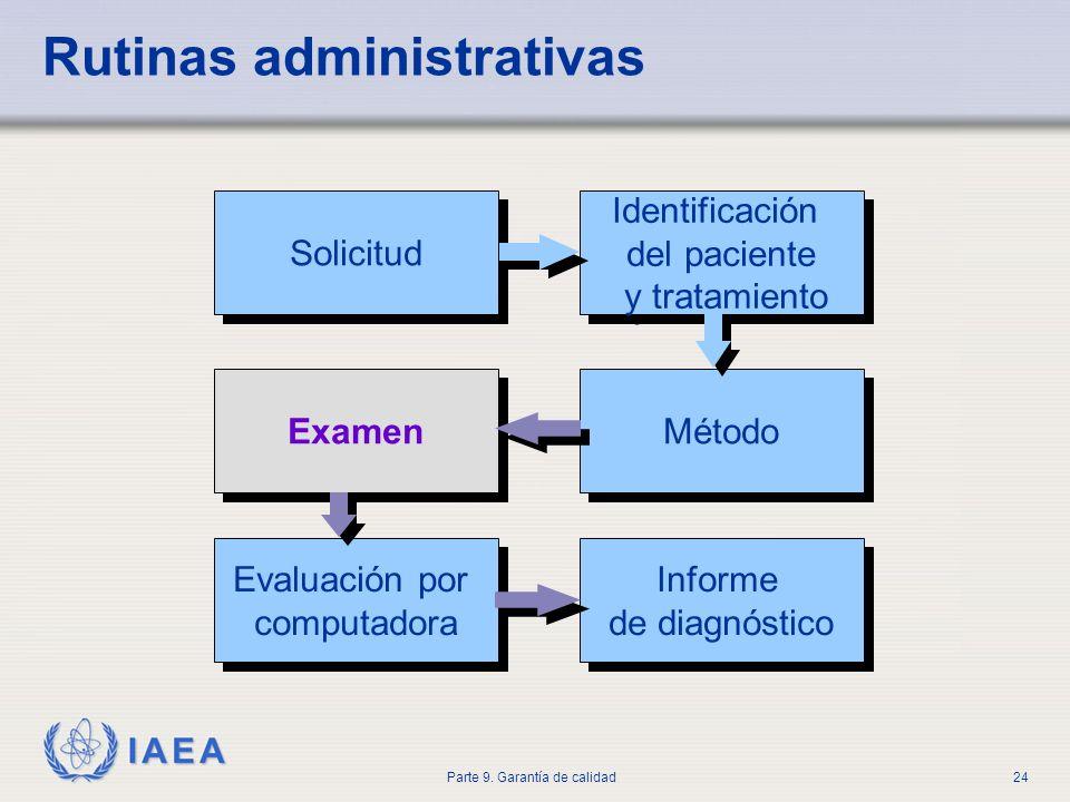 Rutinas administrativas