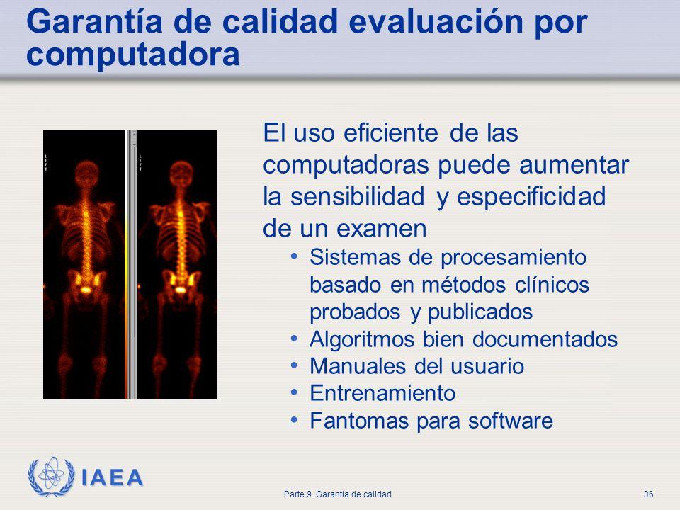 Garantía de calidad evaluación por computadora