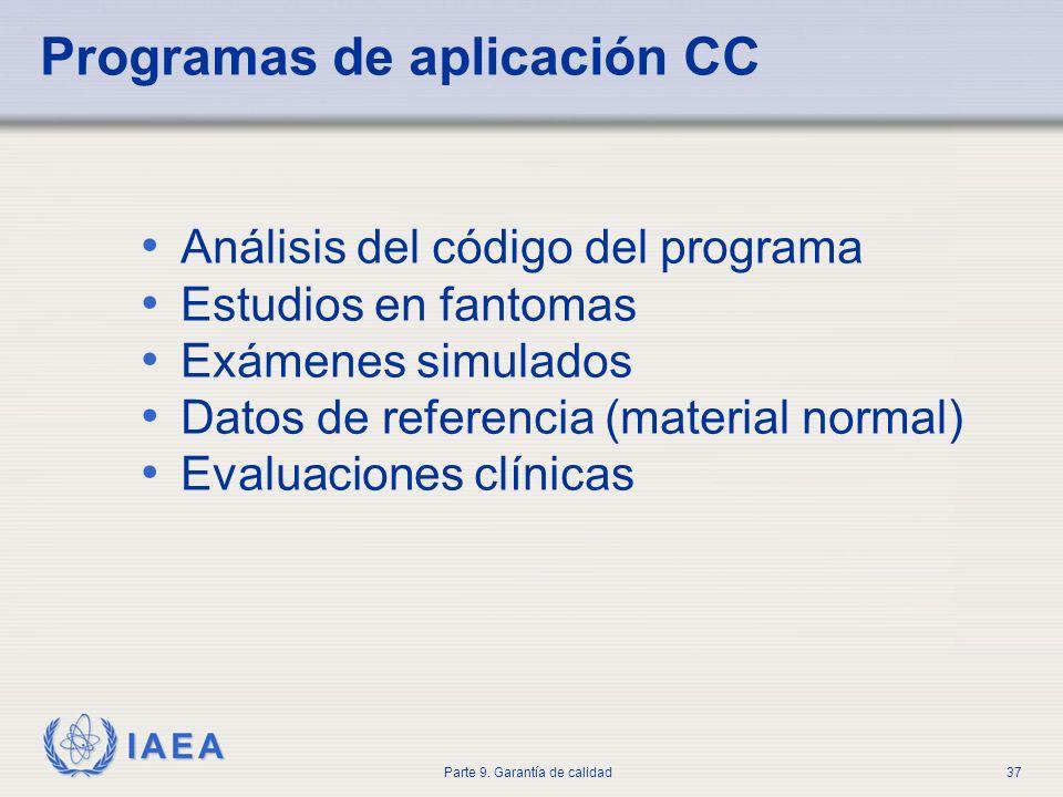 Programas de aplicación CC