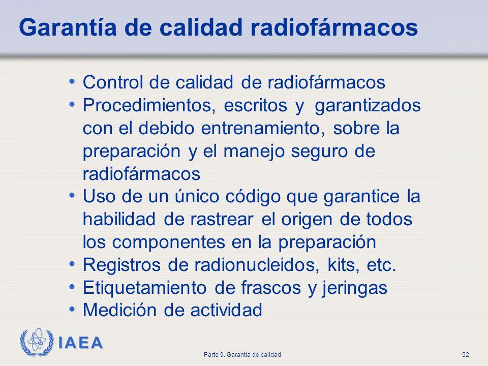 Garantía de calidad radiofármacos