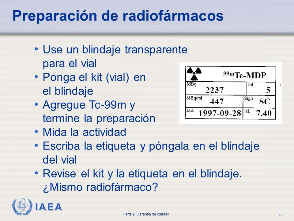 Preparación de radiofármacos