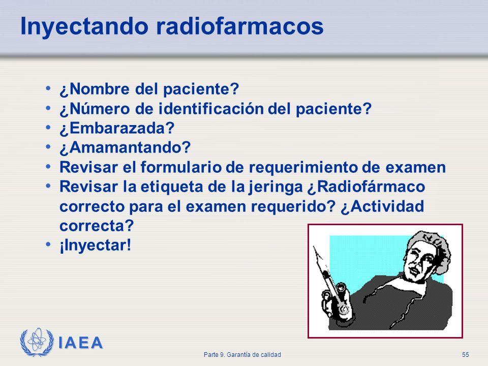 Inyectando radiofarmacos