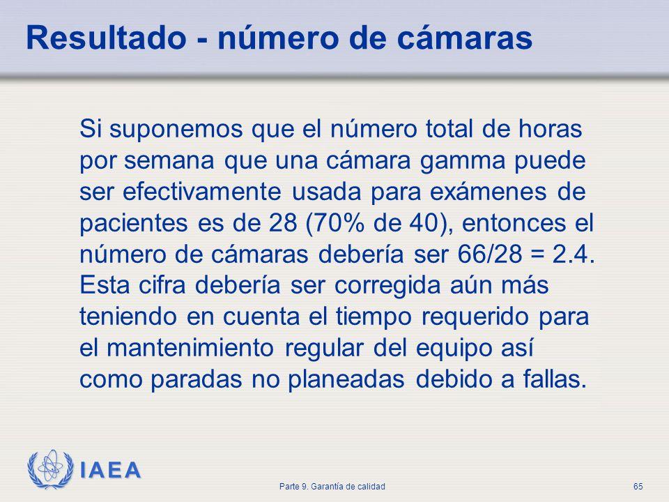 Resultado - número de cámaras