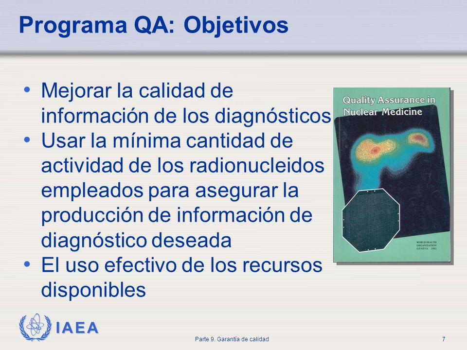 Programa QA: Objetivos