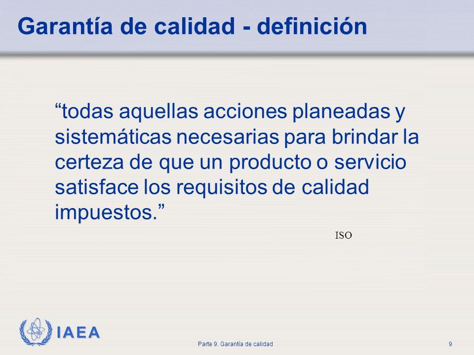 Garantía de calidad - definición