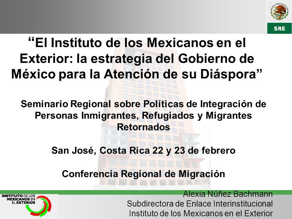 El Instituto de los Mexicanos en el Exterior: la estrategia del Gobierno de México para la Atención de su Diáspora