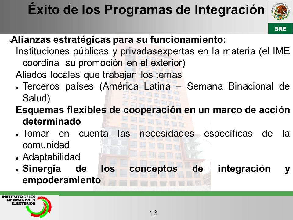 Éxito de los Programas de Integración