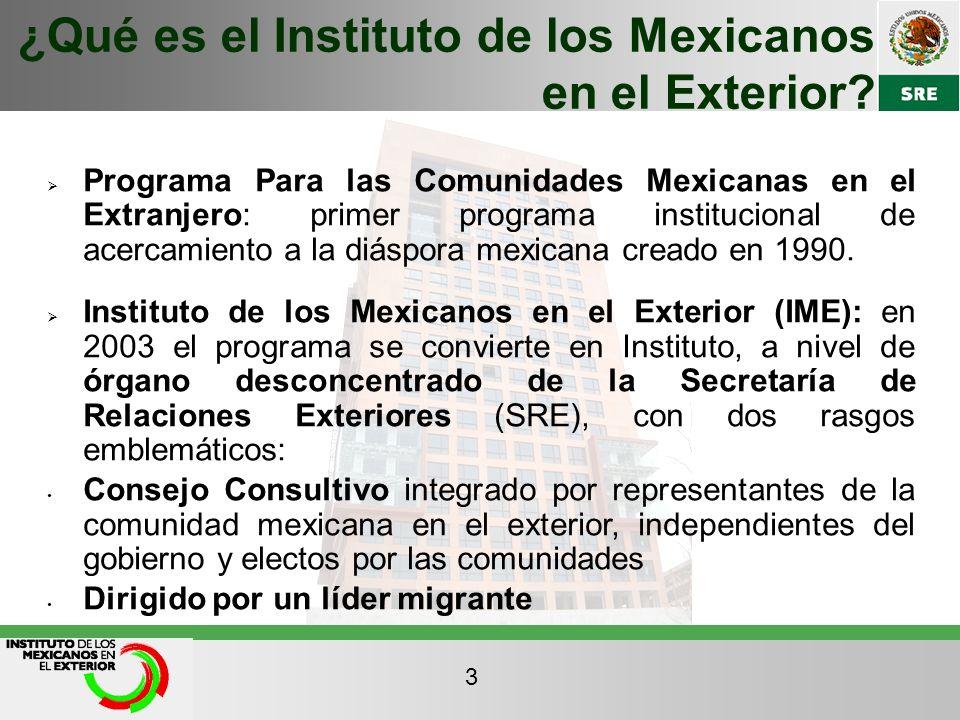 ¿Qué es el Instituto de los Mexicanos en el Exterior