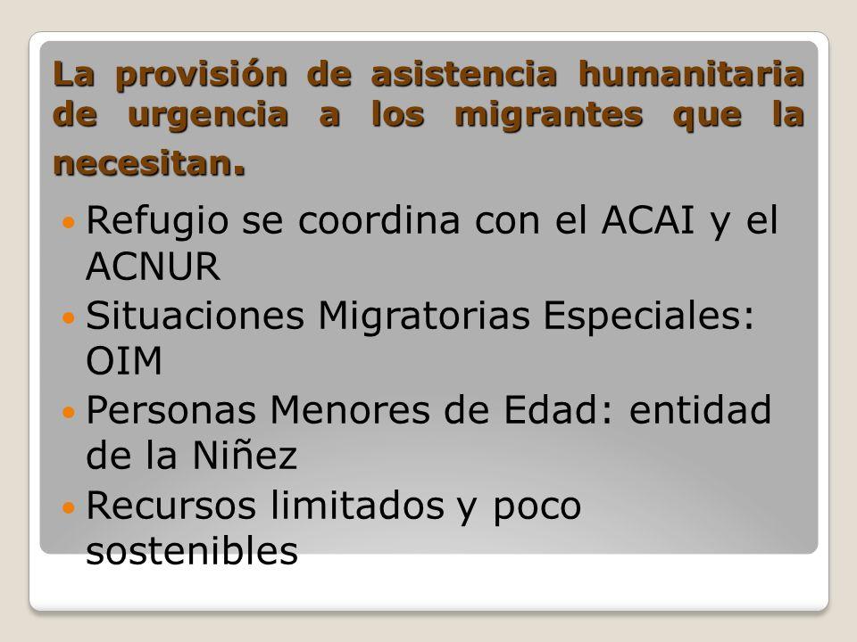 Refugio se coordina con el ACAI y el ACNUR