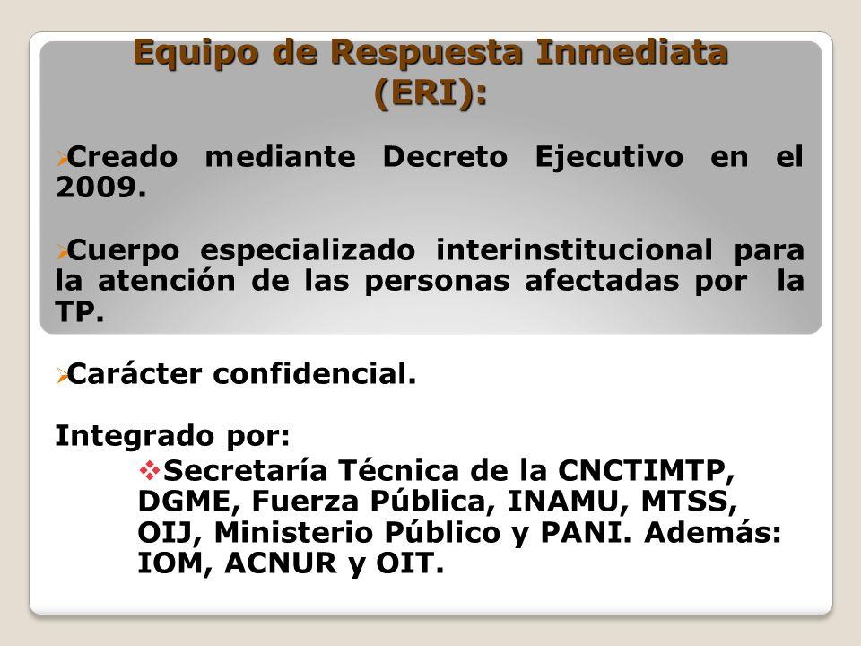 Equipo de Respuesta Inmediata (ERI):