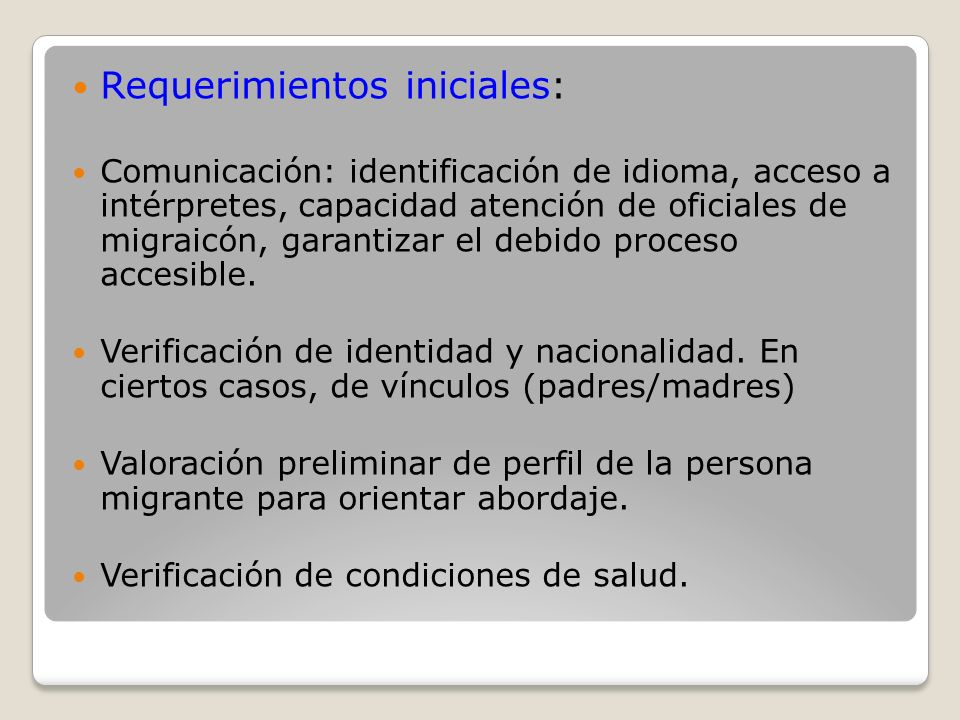 Requerimientos iniciales: