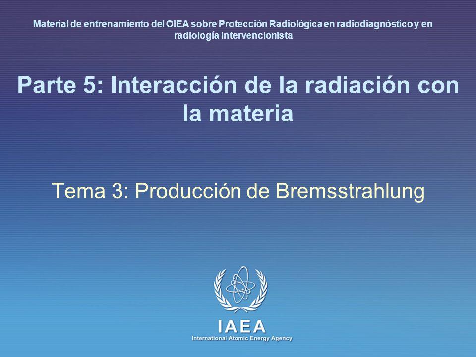 Parte 5: Interacción de la radiación con la materia