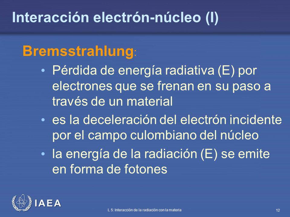 Interacción electrón-núcleo (I)