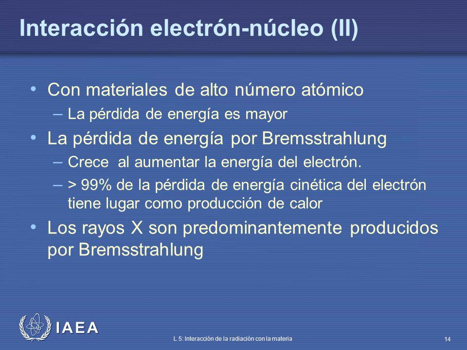 Interacción electrón-núcleo (II)