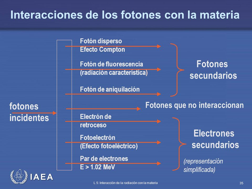 Interacciones de los fotones con la materia