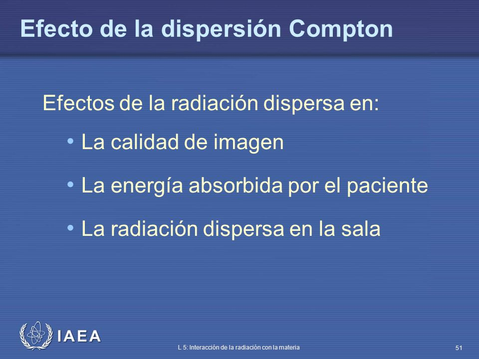 Efecto de la dispersión Compton