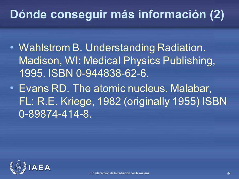 Dónde conseguir más información (2)