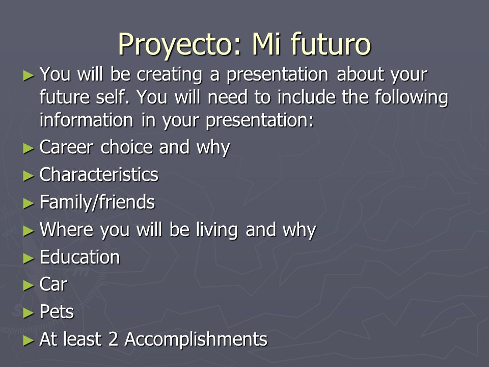 Proyecto: Mi futuro