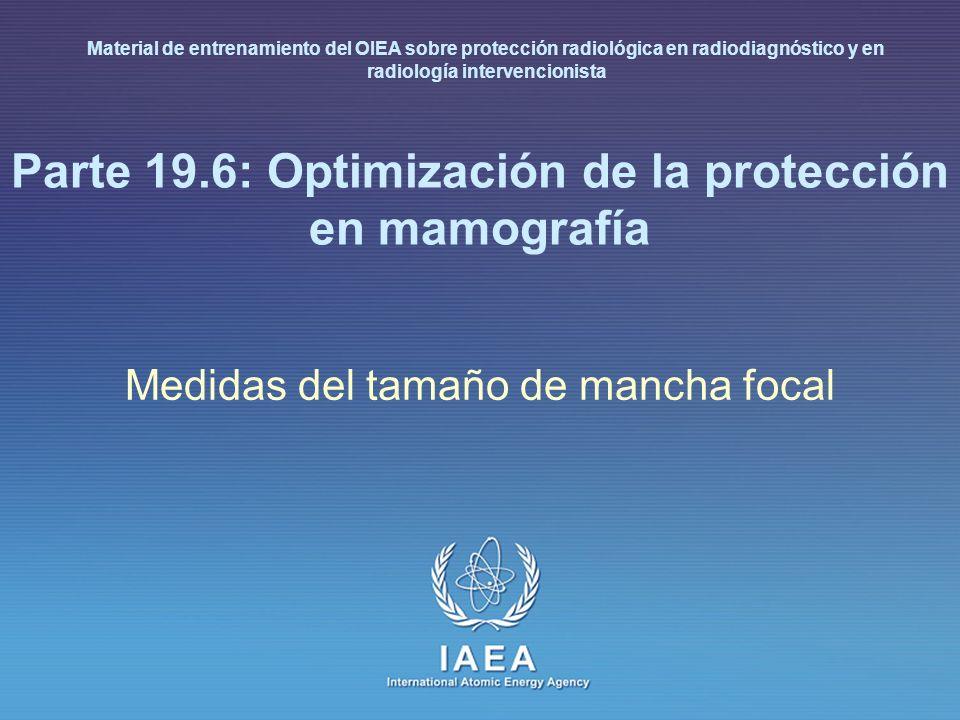 Parte 19.6: Optimización de la protección en mamografía