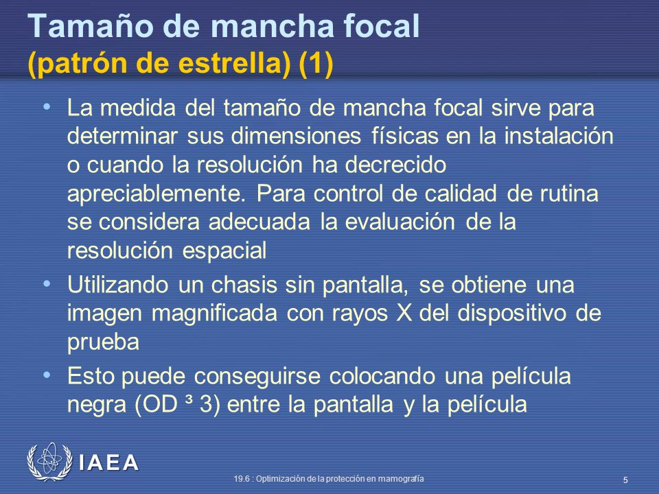 Tamaño de mancha focal (patrón de estrella) (1)