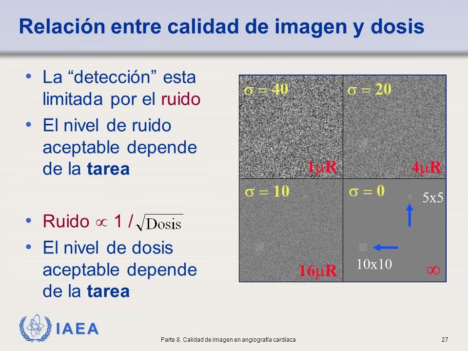 Relación entre calidad de imagen y dosis