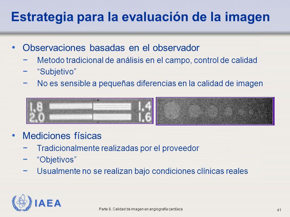 Estrategia para la evaluación de la imagen