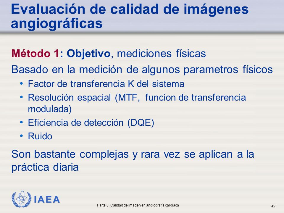 Evaluación de calidad de imágenes angiográficas