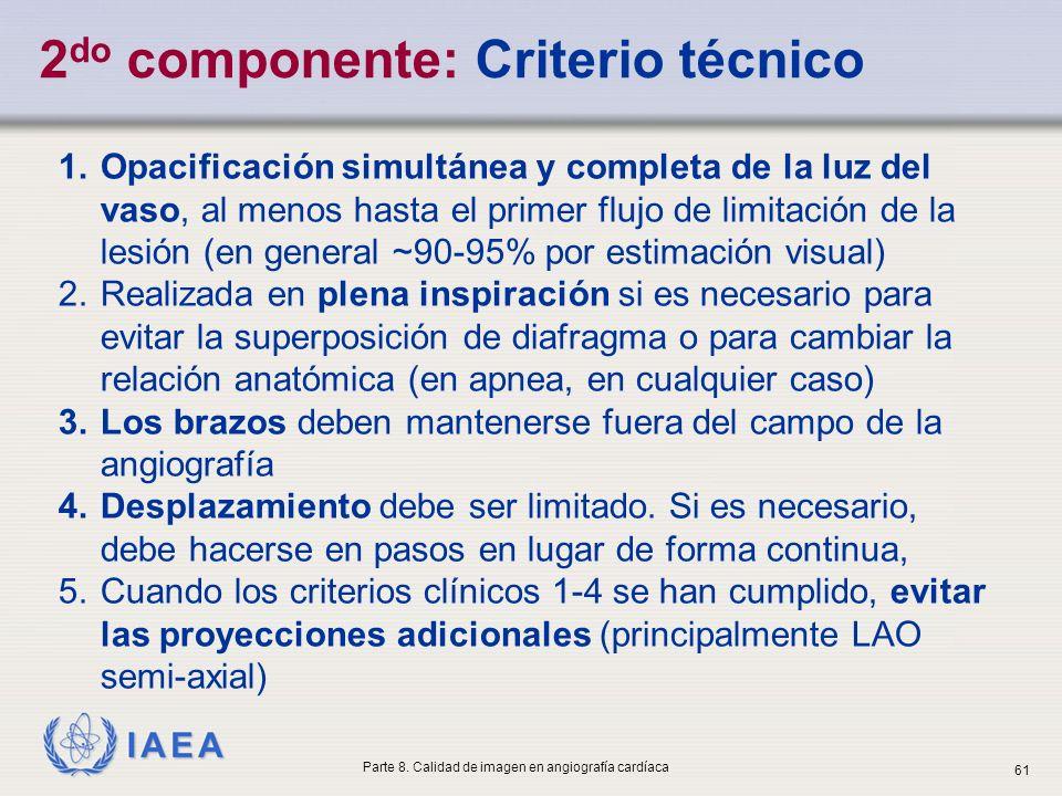 2do componente: Criterio técnico