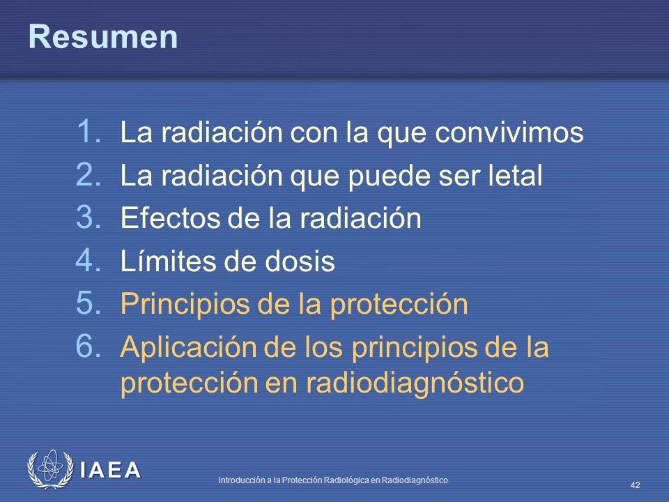 Resumen La radiación con la que convivimos