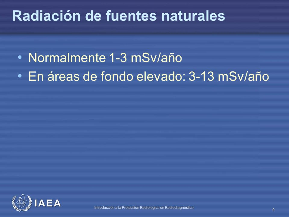Radiación de fuentes naturales
