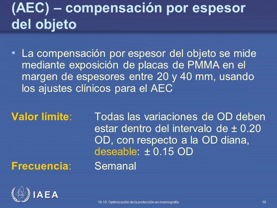 (AEC) – compensación por espesor del objeto
