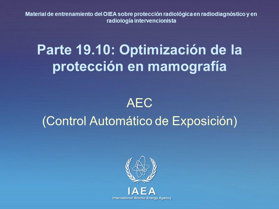 Parte 19.10: Optimización de la protección en mamografía