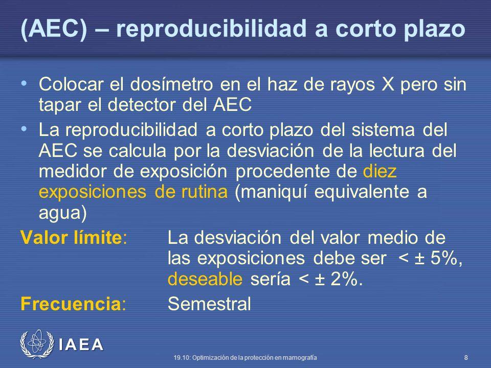 (AEC) – reproducibilidad a corto plazo