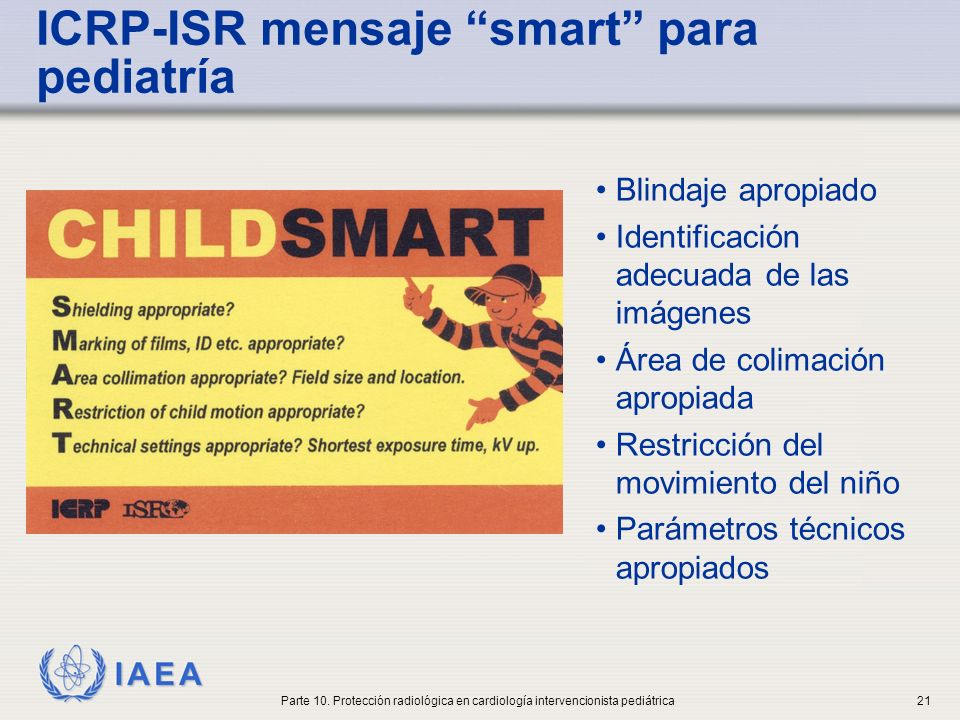 ICRP-ISR mensaje smart para pediatría