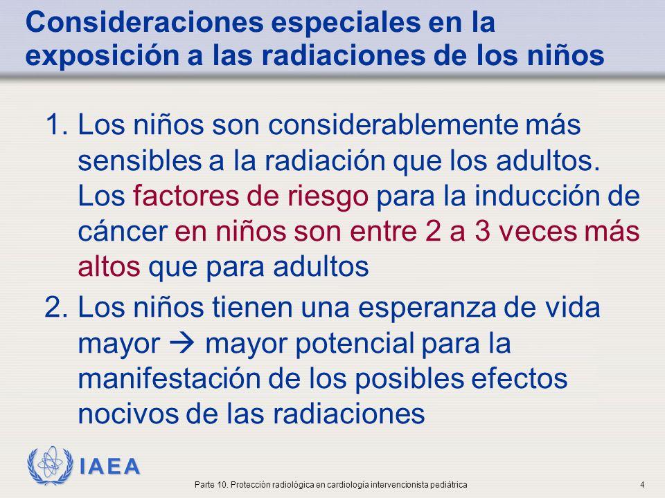 Consideraciones especiales en la exposición a las radiaciones de los niños