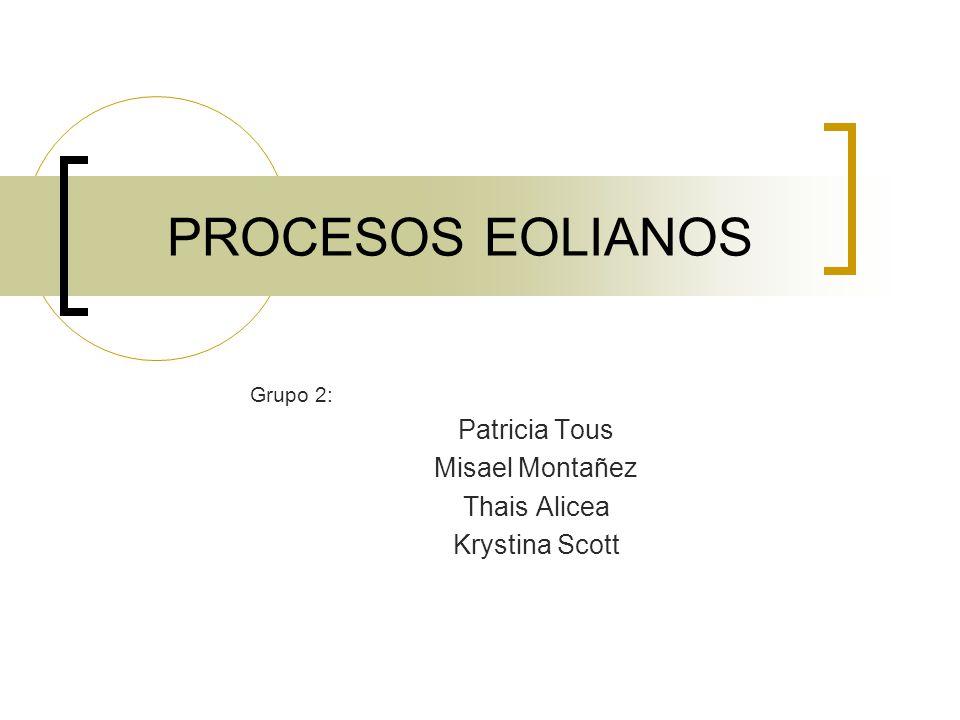 Grupo 2: Patricia Tous Misael Montañez Thais Alicea Krystina Scott