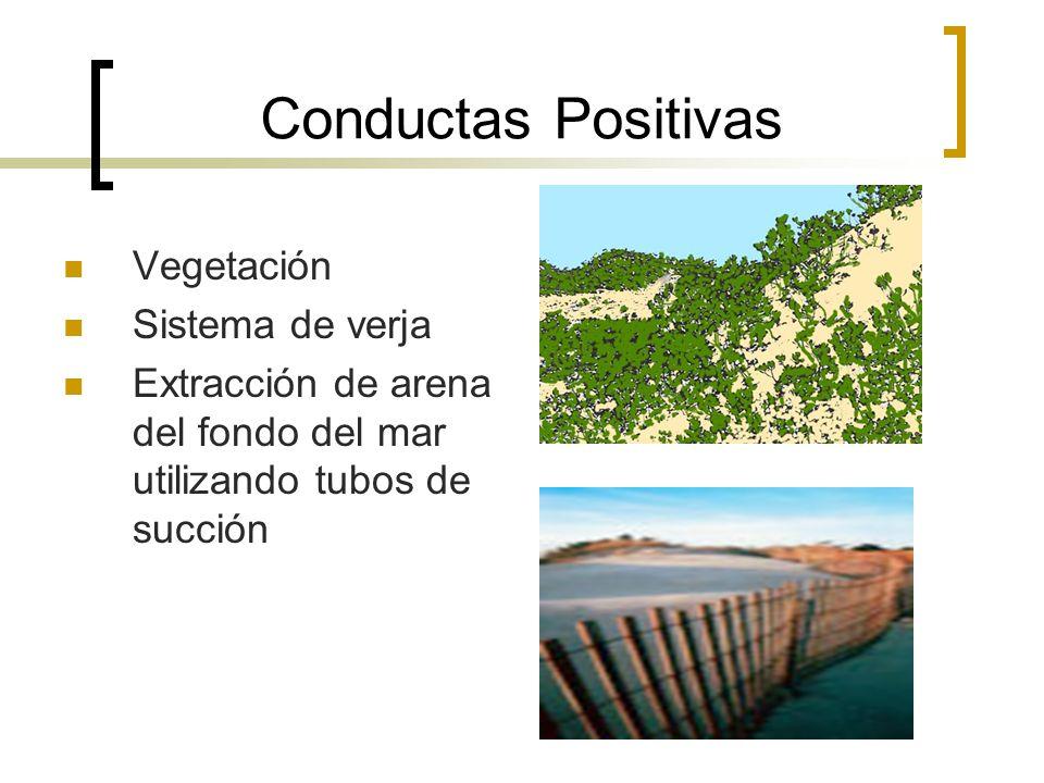 Conductas Positivas Vegetación Sistema de verja