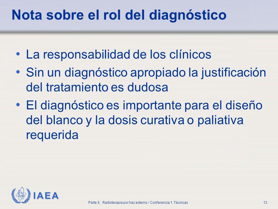 Nota sobre el rol del diagnóstico