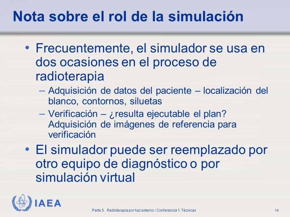 Nota sobre el rol de la simulación